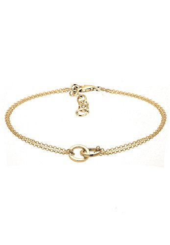 Elli Damen Schmuck Armband Gliederarmband Kreise Geo Minimal Silber 925 Vergoldet Länge 17 cm