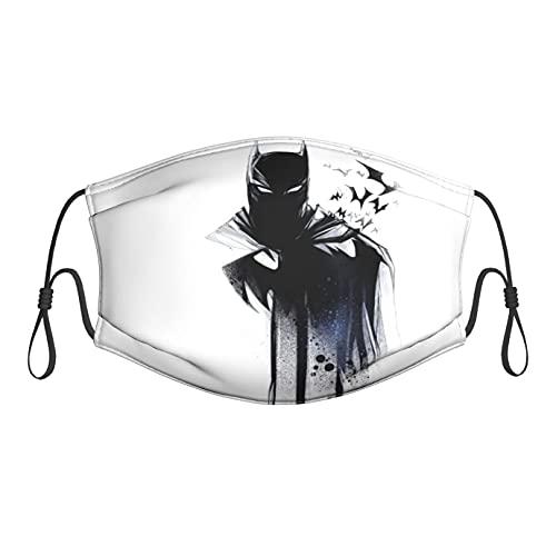 DWHao Mascarillas de tela lavables, suave y reutilizable con filtro para adultos y niños, lindo elástico ajustable para orejas Bat_Man
