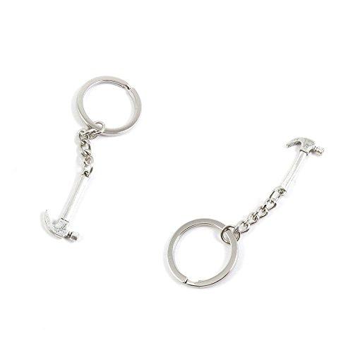 1 PCS Hammer Keychain Keyring Jewelry Making Charms Door Car Key Tag Chain Ring S6YN0C