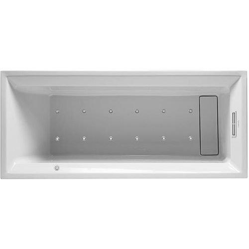 Duravit DU - Bañera de hidromasaje (2ª capa, 1700 x 700 mm, sistema de aire), color blanco
