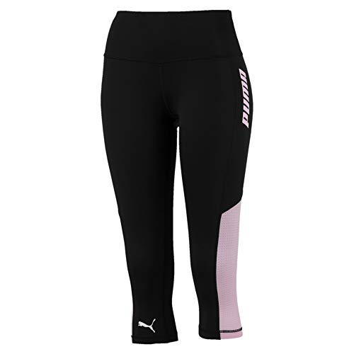 PUMA Modern Sports Damen 3/4 Leggings Puma Black-Pale Pink L