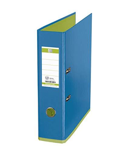 Oxford 100025923 Ordner myColour Kunststoffbezug außen und innen 8 cm breit DIN A4 zweifarbig in hellblau und hellgrün