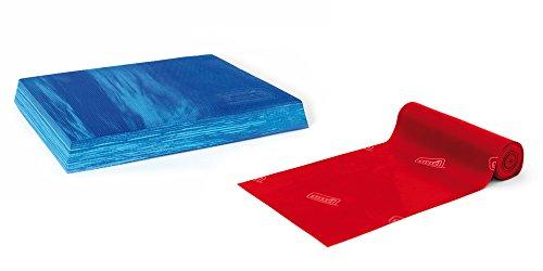 SISSEL® Balancefit Pad: 50 x 41 x 6 cm + SISSEL® Fitband 7,5 cm x 2 m | Pilates Set | Faszien Training | allergenreduziertes Naturlatex