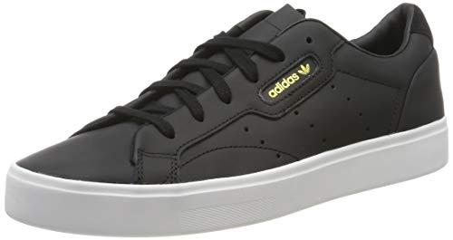 adidas Damen Sleek Sneaker, Schwarz (Core Black/Core Black/Crystal White 0), 36 2/3 EU