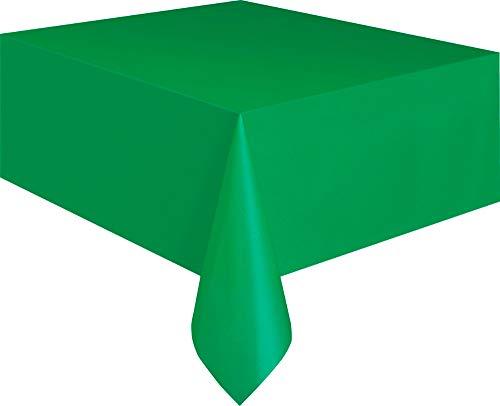 Kunststof tafelkleed, 2,74 x 1,37 m, smaragdgroen