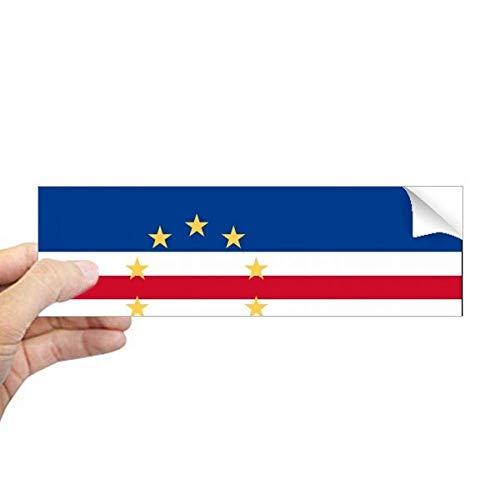 DIYthinker Kaapverdië Nationale Vlag Afrika Land Rechthoek Bumper Sticker Notebook Window Decal
