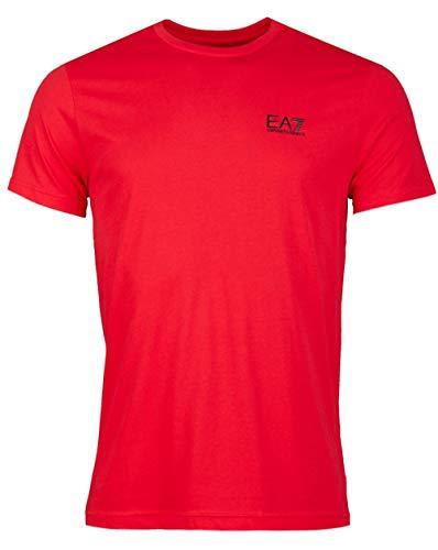 Emporio Armani Herren Train Core Tee T-Shirt, Racing Red, X-Groß