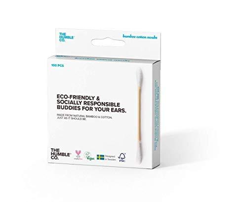 The Humble Co. Naturel Coton-Tige | Blanc | Biodégradable, Respectueux de la Nature, Vegan | Parfait pour les oreilles, le maquillage, les soins pour animaux de compagnie et le nettoyage (1 x 100)