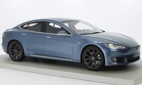 Tesla Model S Facelift, metallic-grau, 0, Modellauto, Fertigmodell, Lucky Step Models 1:18