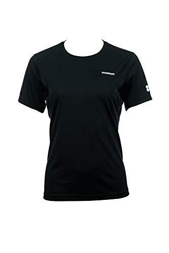 UANDWOO Performance Sport T-Shirt Damen schwarz Polyester Tee, Farben:black, Size:XL