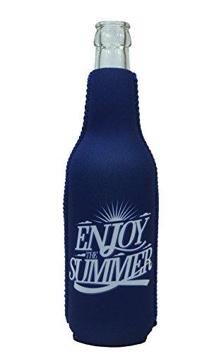 1023101 - Neopren Flaschenkühler Enjoy the Summer Blau