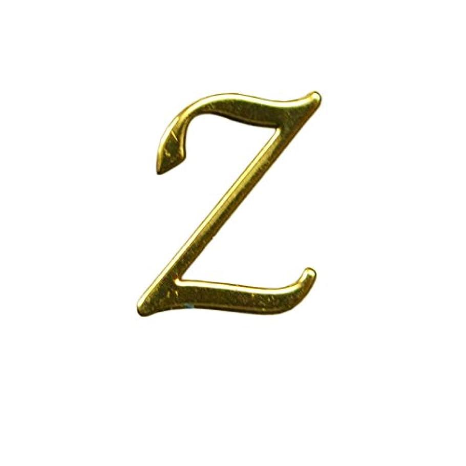 オペラ時々時々湿度Z/ゴールド?人気の書体のアルファベットイニシャルパーツ!4mm×5mm10枚