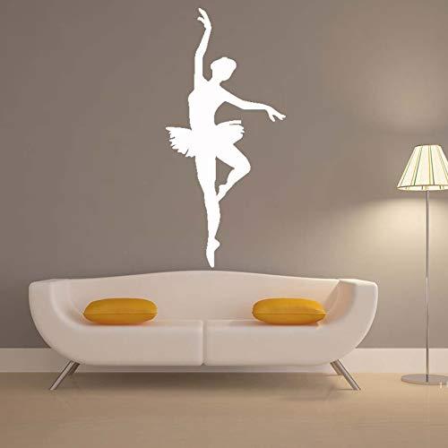 Bailarina Pegatina de Moda Bailarina de Ballet calcomanía de Pared Silueta de Ballet calcomanía de Baile para niñas habitación decoración del hogar