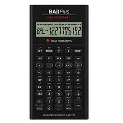 Texas Instruments BA II Plus Professional Financial Calculator IIBAPRO/CLM/1L1/D (Renewed)