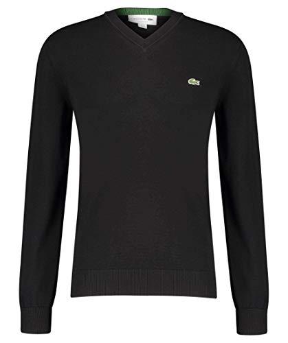 Lacoste Herren AH2183 Rollkragenpullover, Sweater Sweatjacke Pullover Pulli Rollkragen Stehkragen Oberteil Langarm einfarbig Uni,Black (031),XS (2)