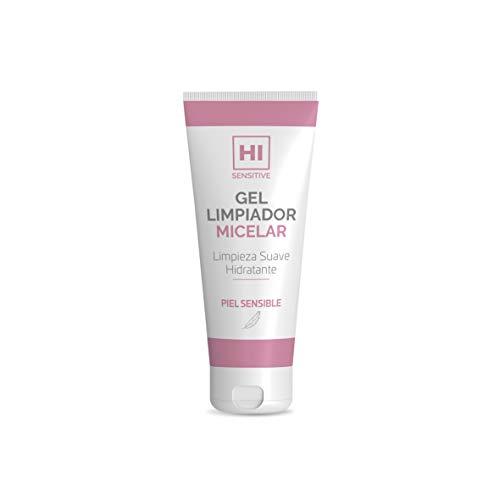 HI Sensitive | Gel Limpiador Micelar | Limpiador Facial para Pieles Sensibles | Desmaquillante y Limpiador de Impurezas | Enriquecido con Aloe Vera y Extracto de Pepino
