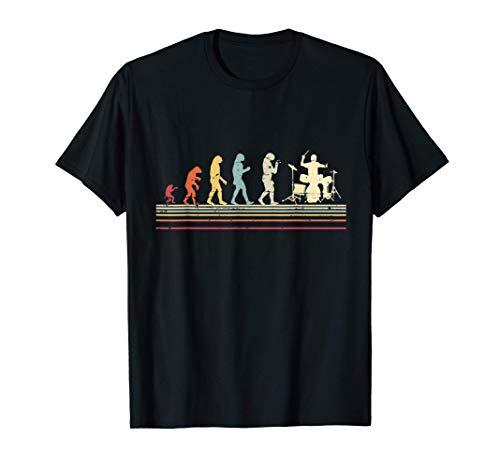 Baterista en cadena de evolución divertido Drum Batería Camiseta