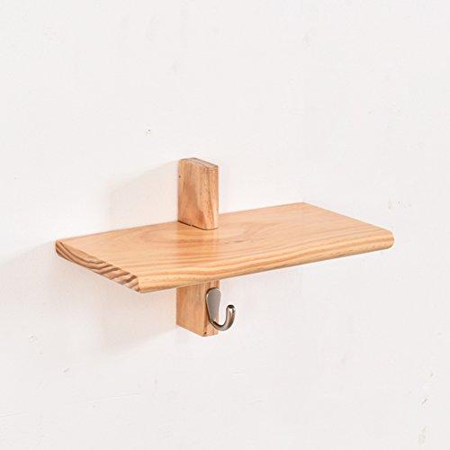 Dongyd Support de Cintre de Mur de Salle de Bains, Support Multifonctionnel en Bois Plein Creative Clap Living Room Shelf Hanger Holder Key Hook (Couleur : Wood, Taille : D)