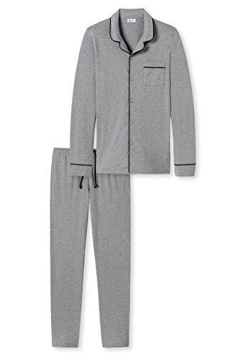 Schiesser Revival - pyjama lang FRIEDOLIN - nachtkleding set - grijs
