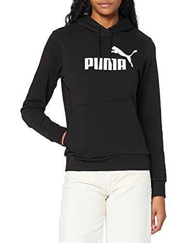 PUMA Essentials, Felpa Donna, Nero (Cotone Black), S