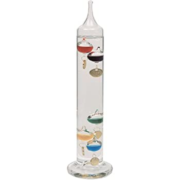 Lily's Home Galileo 14 inch Glass Thermometer with 5 Multi Colored Spheres in Fahrenheit and with Gold Tags