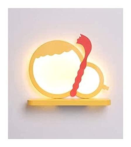 YONGYONGCHONG Lámpara de pared Lámpara de pared Dormitorio Led Lámpara de pared Fondo de pared Corredor Lámpara de pared de la habitación de los niños Lámpara de pared decorativa