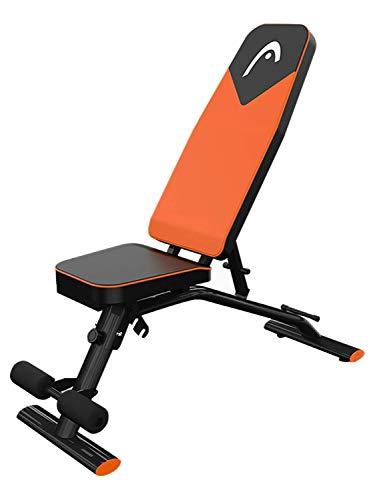 KMILE Banco de pesas para levantamiento de pesas, silla de fitness con mancuernas para el hogar, multifunción, para sentarse, muscular, abdominal, equipo de fitness multifunción