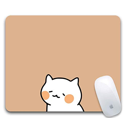 petit un compact Tapis de souris gaming, caoutchouc résistant à l'abrasion, chaton abîmé, fond uni, tapis…