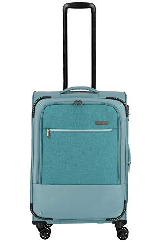 """Travelite Reisegepäck-Serie """"ARONA"""" attraktive Trolleys und Bordtaschen in 3 Farben Koffer, 66 cm, 56 L, Aqua"""