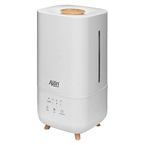 Allin Exporters LH-2030B Top Fill Humidifier with Touch Screen, Night Light & Essential Oil Tray Ultrasonic Cool Mist for Cold & Cough Ideal for Baby Bedroom & Office (4L, Wooden)