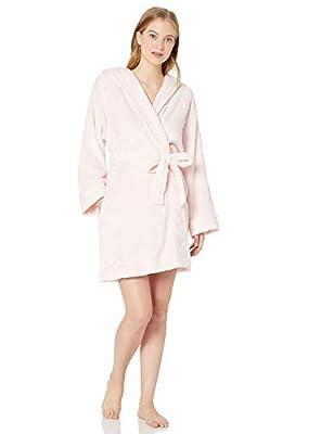 Tommy Hilfiger Women's Plush Soft Bathrobe Warm Textured Sleep Lounge Pajama Robe, Blushing Bride Star, Large/X-Large by Tommy Hilfiger