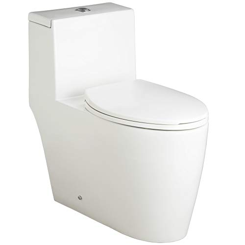 Mirabelle MIRSK241SWH Mirabelle MIRSK241S 1.28 GPF One-Piece Elongated Toilet - With Seat