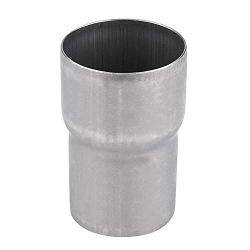 Adaptador de escape 51 mm a 60 mm (2 a 2,4 pulgadas) Adaptador universal de tubo de escape de la motocicleta Reductor Conector de silenciador Acero inoxidable