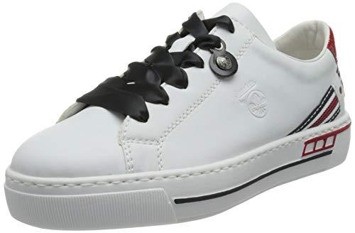 Rieker Damen L8824-80 Sneaker, Weiss,42 EU