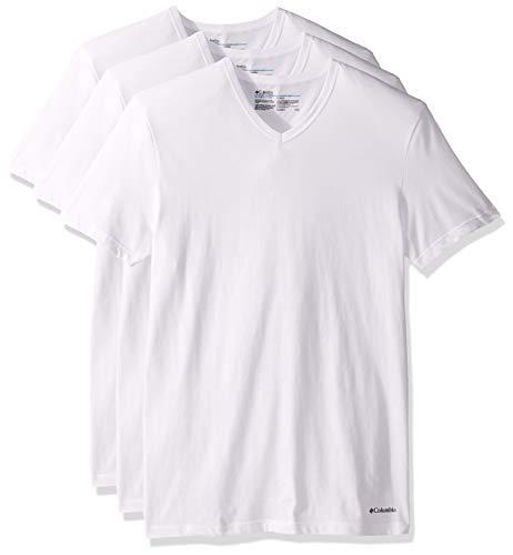 Columbia Men's T-Shirt, White, Extra Large
