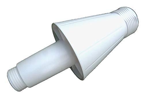 Sun Garden Ersatzteil Hülse (Standrohraufnahme ohne Verschraubung) für Ampelschirmständer weiß