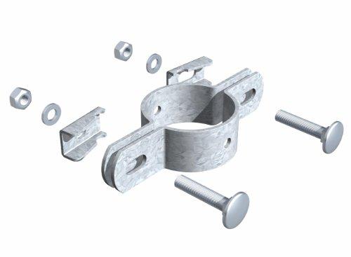 GAH-Alberts Double collier de fixation 42 mm Galvanisé à chaud