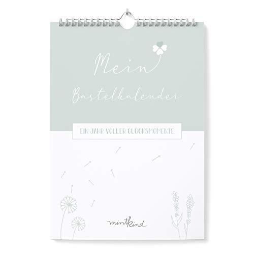 mintkind® Bastelkalender zum Selbstgestalten ohne Jahr I A4 Kalender zum Basteln, Fotokalender, immerwährender Jahreskalender I Wandkalender als DIY Geschenk