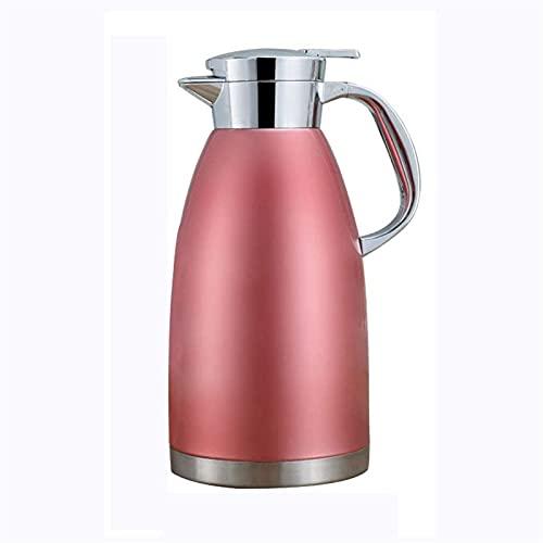 Exterior Frasco térmico 2.3L Jarra de vacío Aislado Acero Inoxidable Café térmico Jarrafos Hot Bebidas frías Jugo Frasco Aislamiento de té Pot XMJ (Color : Red)