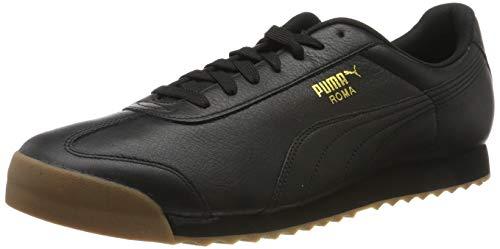 PUMA Roma Classic Gum, Scarpe da Ginnastica Unisex - Adulto, Nero (Puma Black-Puma Team Gold), 38 EU