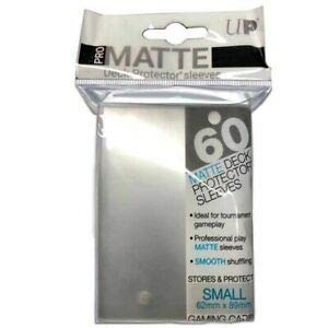 Ultra Pro Ultra Pro-60 Deck Protector-Pro-Matte Clear Small Size Sleeves, Color Transparente (E-84491)