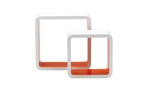 King Home M1105002/D, Blanc/Orange, 26X10X26H 20X10X20H
