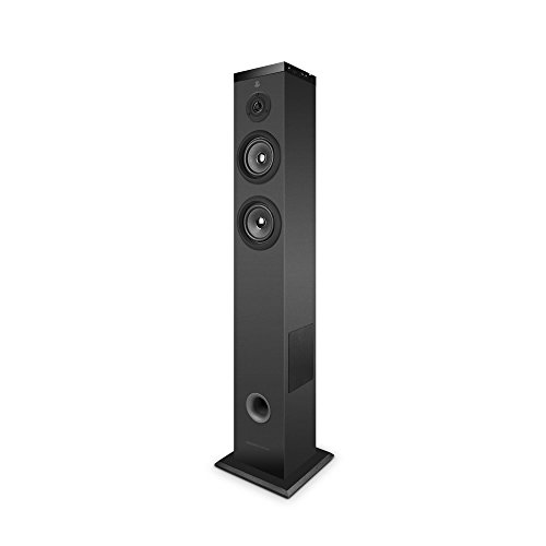 Energy Sistem Multiroom Tower Wi-Fi -UK Version Altavoz Bluetooth (Sistema de Sonido en Torre 2.1 con Wi-Fi, Bluetooth 4.0, 60W Potencia Real, Panel táctil, USB/SD, Spotify Ready)- Negra