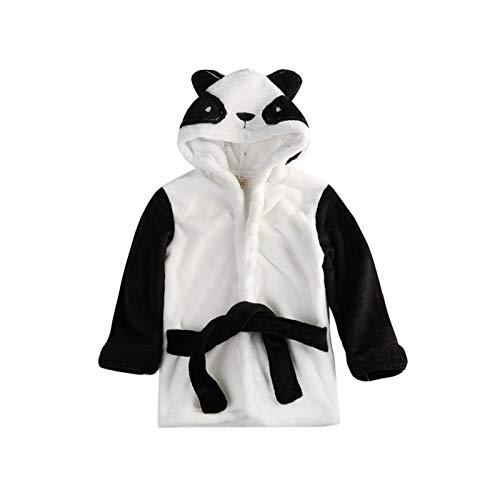 LOKKSI - Albornoz unisex con capucha, pijama de franela esponjosa para niños de 1 a 6 años