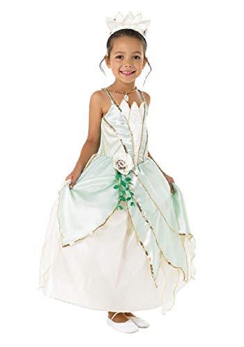 Disfraz Princesa Tiana y el Sapo de lujo de 5 años a 7 años
