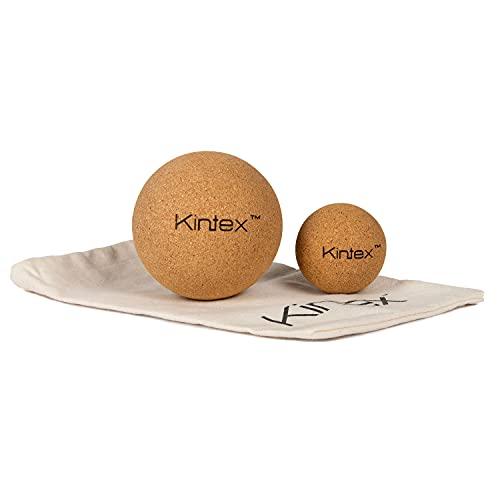 Kintex Korkball Faszien-Kugel 5 cm, inklusive Aufbewahrungsbeutel, Faszien-Kugel aus Kork, Massagerolle, Selbst-Massage, Faszien-Training (5 cm)