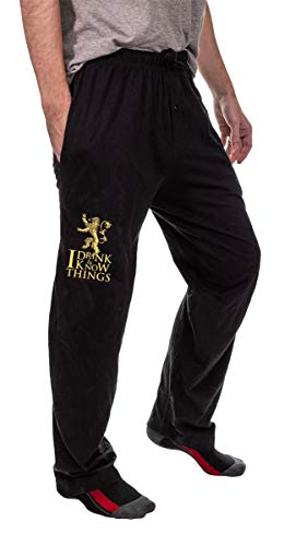 Game of Thrones Unisex Pajama Lounge Pants (I Drink & Know Things, Small)