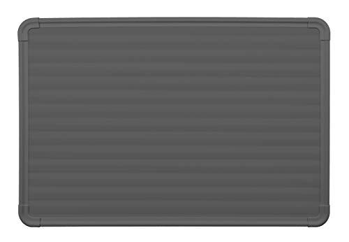 Riscaldamento a pannello radiante elettrico ad infrarossi in policarbonato - Termoarredo di design (Grigio scuro, 60x90cm)