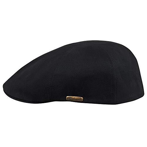 Sterkowski d'été légère en coton béret-casquette plate, Noir, XXL