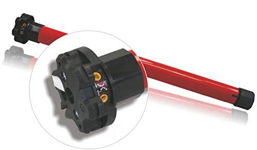 h Rollladenmotor, Rohrmotor, mechanisch einstellbare Endlagen, 20 Nm mit Adapter für 60 mm 8-Kantwelle (1ST)